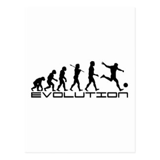 Fußball-Fußball Futbol Sport-Evolutions-Kunst Postkarte
