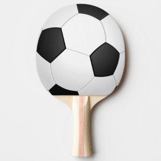 Fußball-Fußball-Illustrations-Klingeln Pong Paddel Tischtennis Schläger