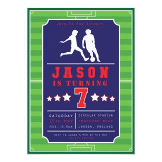 Fußball - Fußball - Jungen - Geburtstag - 14 X 19,5 Cm Einladungskarte