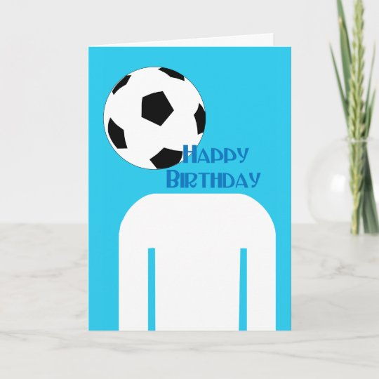Fussball Fussball Kopf Alles Gute Zum Geburtstag Karte Zazzle De