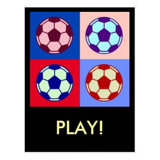 Fußball-Fußball-Kunst Postkarte