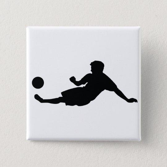 Fußball-Fußball Quadratischer Button 5,1 Cm