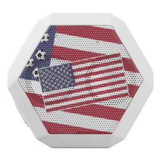 Fußball-Fußball-US Flagge-Flagge Weiße Bluetooth Lautsprecher