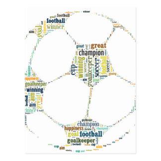 Fußball-Fußball-Wort-Umbau-Wolke Postkarte