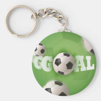 Fußball-Fußball-Ziel - Keychain Schlüsselanhänger