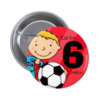 Fußball/Fußballname und -alter knöpft,/Abzeichen Runder Button 5,1 Cm