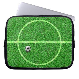 Fußball-Fußballplatz-Ball - Laptop-Hülse Laptopschutzhülle