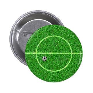 Fußball-Fußballplatz - Knopf Runder Button 5,7 Cm