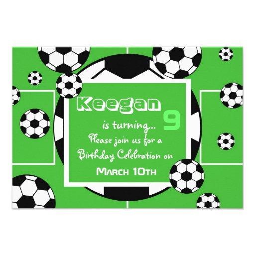 Fußball-Geburtstags-Einladung 8,9 X 12,7 Cm Einladungskarte | Zazzle