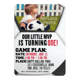 """Fußball-Geburtstags-Einladung """"unseres kleinen 12,7 X 17,8 Cm Einladungskarte"""