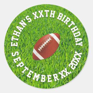 Fußball-Geburtstags-Feier Runder Aufkleber