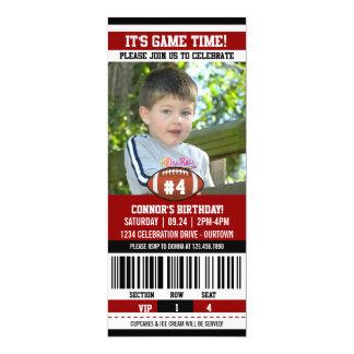 Fußball-Geburtstags-Foto-Schablone 10,2 X 23,5 Cm Einladungskarte