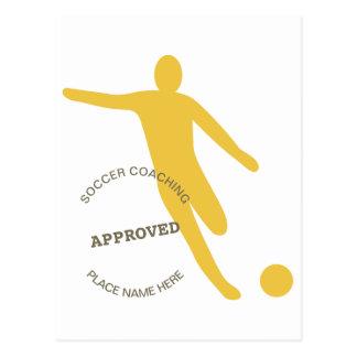 Fußball genehmigt postkarte