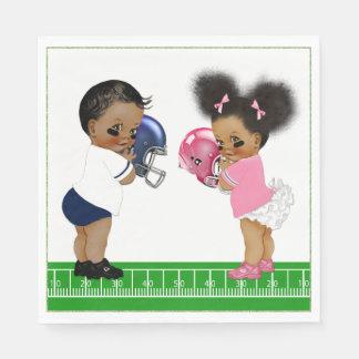 Fußball-Geschlecht decken Papierservietten
