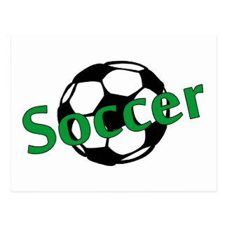 Fußball (Grün) Postkarte