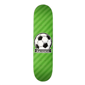 Fußball; Grüne Streifen Skateboard Deck