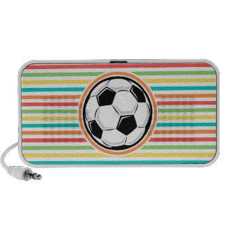 Fußball Helle Regenbogen-Streifen Mini Lautsprecher
