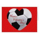 Fußball-Herz-glückliche Valentinsgruß-Gruß-Karte