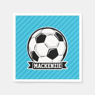 Fußball; Himmel-blaue Streifen Papierservietten