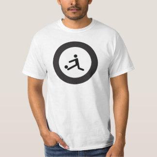 Fußball-Ikone roundel des FUSSBALLS | T-Shirt