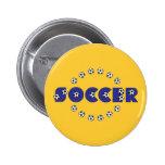 Fußball im Blau Anstecknadelbuttons