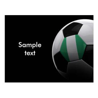 Fußball in Nigeria Postkarte