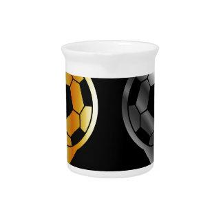 Fußball innerhalb der Gold- und Silberplatzierung Krug