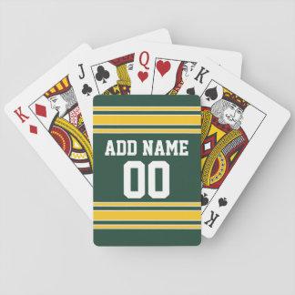 Fußball Jersey mit Name-Zahl Spielkarten