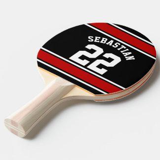 Fußball-Jersey-Neuheits-personalisierter Name Tischtennis Schläger