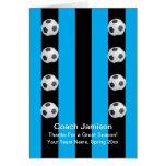 Fußball-Karte für Zug, Blau, leeres Innere