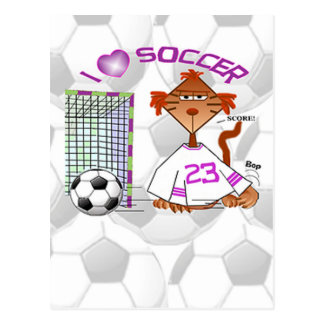 Fußball-Katze Postkarte