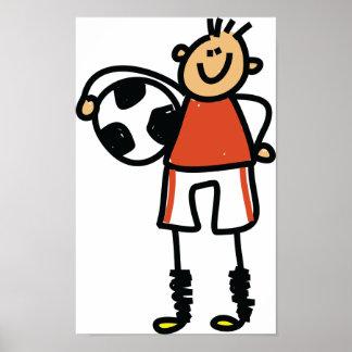 Fußball-Kinderplakat Poster
