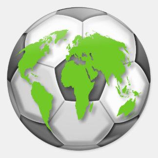 Fußball-Kugel Runder Aufkleber