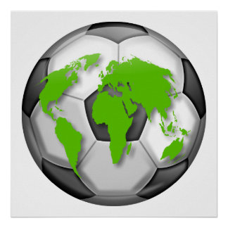 Fußball-Kugel Plakat