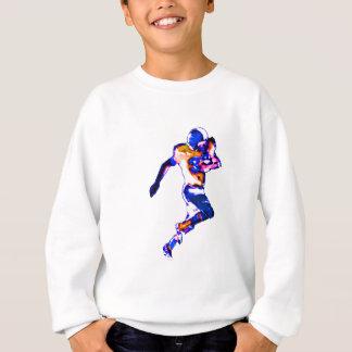 Fußball-Läufer blaues Transp das MUSEUM Zazzle Sweatshirt