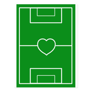 Fußball, Liebefußball des Herzens Pitch.l Postkarte