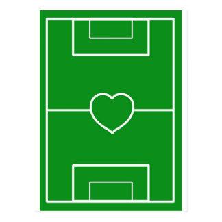 Fußball, Liebefußball des Herzens Pitch.l Postkarten