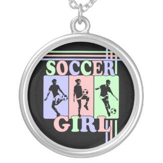 Fußball-Mädchen-Preis-Geschenk-Halsketten Halskette Mit Rundem Anhänger