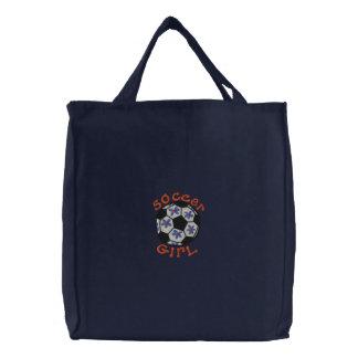 Fußball-Mädchen-Tasche Leinentasche