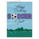 Fußball-Mädchengrußkarte