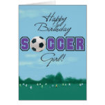 Fußball-Mädchengrußkarte Grußkarten