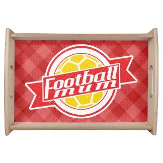 Fußball-Mama-Fußball-Mamma-Behälter Serviertablett