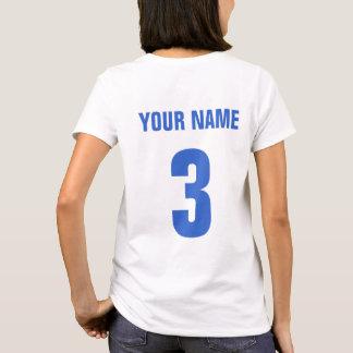 Fußball-Mama-Namen-u. Zahl-Rückseiten-Druck-T - T-Shirt
