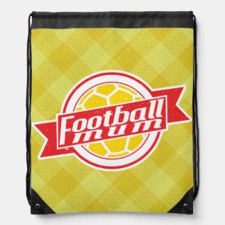 Fußball-Mamadrawstring-Rucksack-Turnhallen-Tasche Turnbeutel