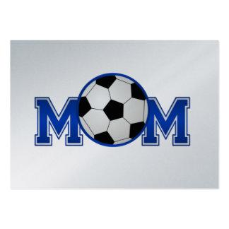 Fußball-Mamma-Blau Jumbo-Visitenkarten