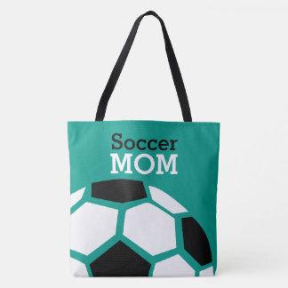 Fußball-Mamma-modisches stilvolles Fußball-Grün Tasche
