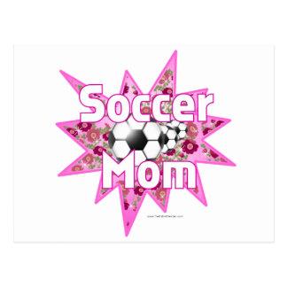 Fußball-Mamma-Rosen Postkarte