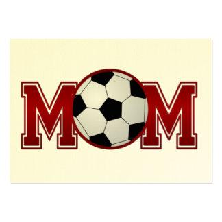 Fußball-Mamma-Rot Jumbo-Visitenkarten