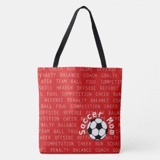 Fußball-Mamma-Rot über aller Druck-Tasche Tasche