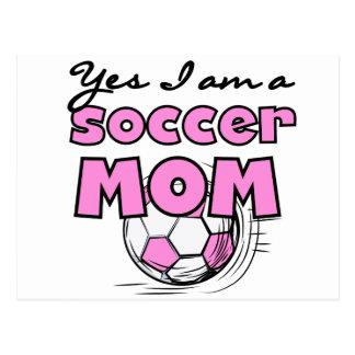 Fußball-Mamma-T-Shirts und Geschenke Postkarte